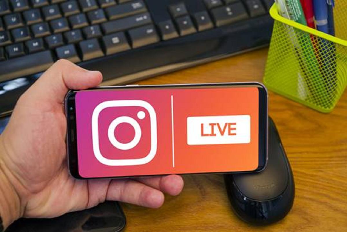 Foto von Instagram Live auf Smartphone